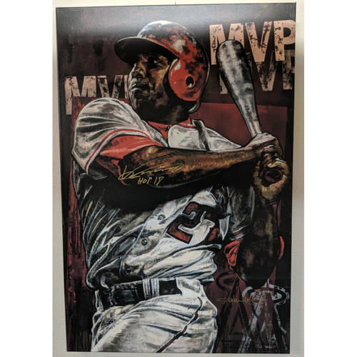Photo of Vladimir Guerrero Autographed Giclée Canvas by Stephen Holland