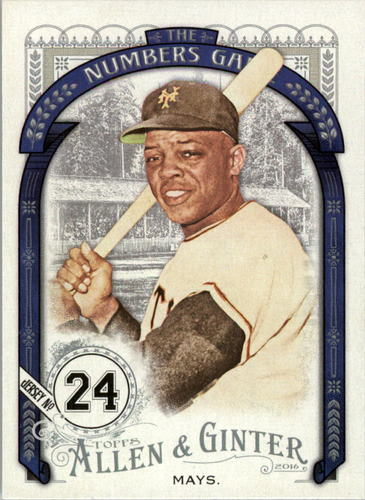 Photo of 2016 Topps Allen and Ginter The Numbers Game #NG76 Willie Mays