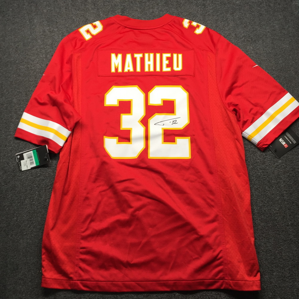 PCF - Chiefs Tyrann Mathieu Signed Replica Jersey XL