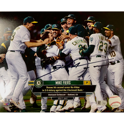 "Photo of Mike Fiers ""2nd No-Hitter"" Autographed 8""x10"" Photo"
