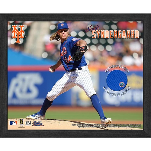 Photo of Noah Syndergaard Game-Used Jersey Plaque