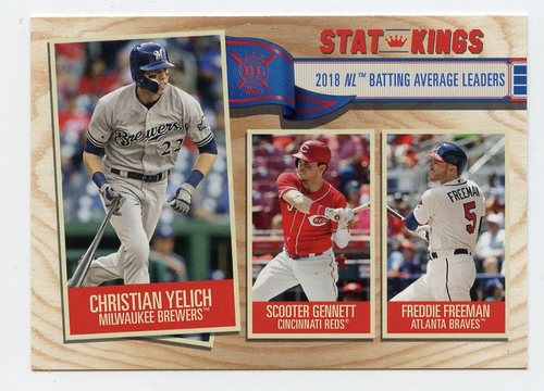 Photo of 2019 Topps Big League #358 Scooter Gennett/Freddie Freeman/Christian Yelich