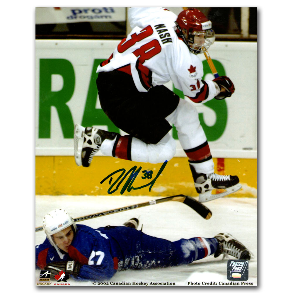 Rick Nash Autographed 2002 World Junior Championship 8X10 Photo