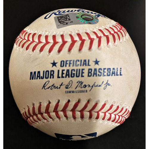 Photo of Game-Used Baseball:  Nick Wittgren Cleveland Indians Strikeout (MLB AUTHENTICATED)
