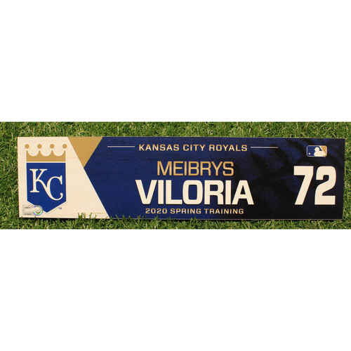 Photo of Game-Used 2020 Spring Training Locker Tag: Meibrys Viloria #72