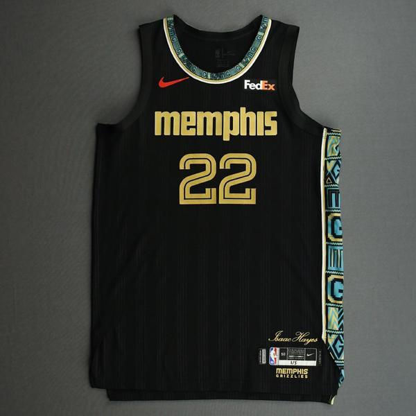 Image of Desmond Bane - Memphis Grizzlies - Game-Worn City Edition Jersey - 2020-21 NBA Season