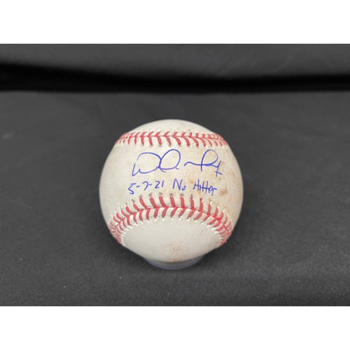Photo of Wade Miley No-Hitter - *Autographed Game-Used Baseball* - Bot 6 - Wade Miley to Josh Naylor (Ground Out) - Inscribed as 5-7-21 No Hitter