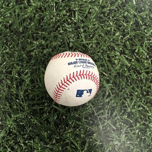 Photo of Game-Used Baseball CIN@MIL 06/14/21 - Hoby Milner - Eugenio Suarez: 2-Run Single