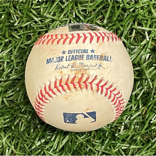 Photo of Game Used Baseball: Brent Honeywell Jr. MLB Debut - Rougned Odor First Game as a New York Yankee - April 11, 2021 v NYY (See Description For Details)
