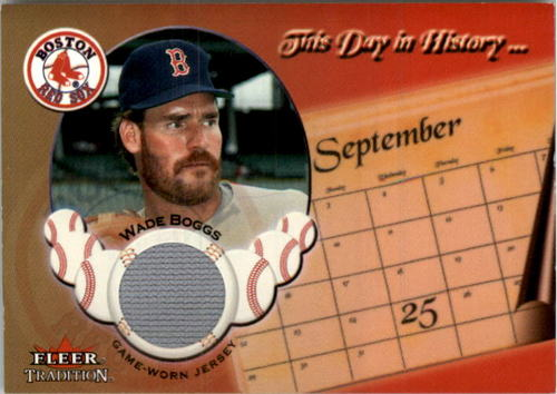 Photo of 2002 Fleer Tradition Update This Day In History Game Used #4 Wade Boggs Pants