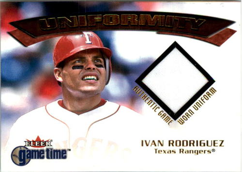 Photo of 2001 Fleer Game Time Uniformity #17 Ivan Rodriguez