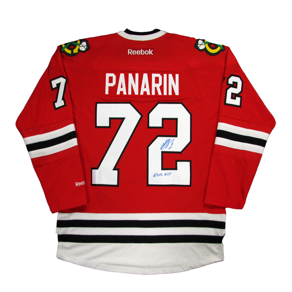 ARTEMI PANARIN Signed Chicago Blackhawks Red Reebok Jersey with