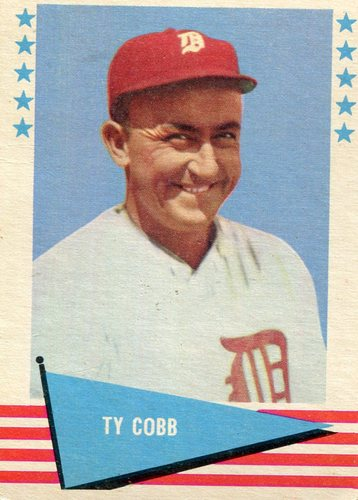 Photo of 1961 Fleer #14 Ty Cobb Hall of Fame Class of 1936