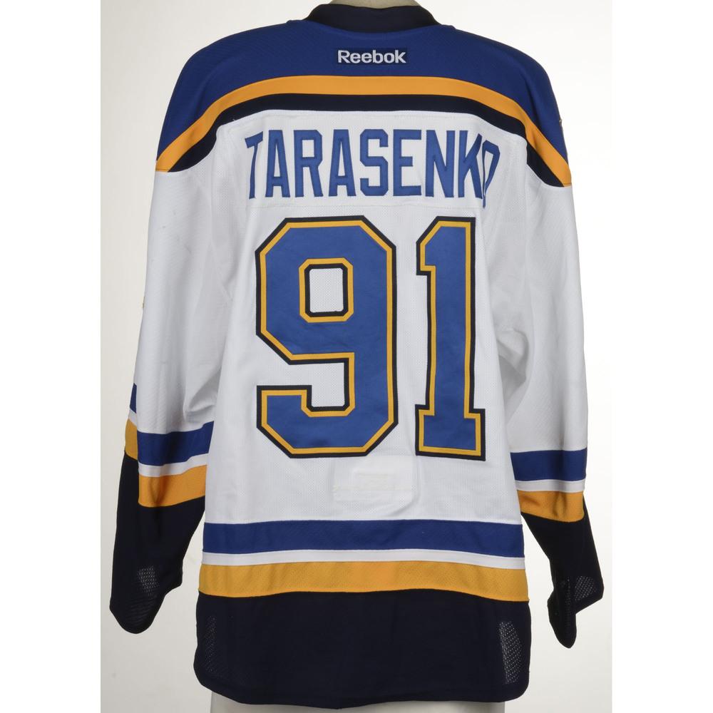buy popular 89176 231ce Vladimir Tarasenko St. Louis Blues Game-Used Away Set 4 ...