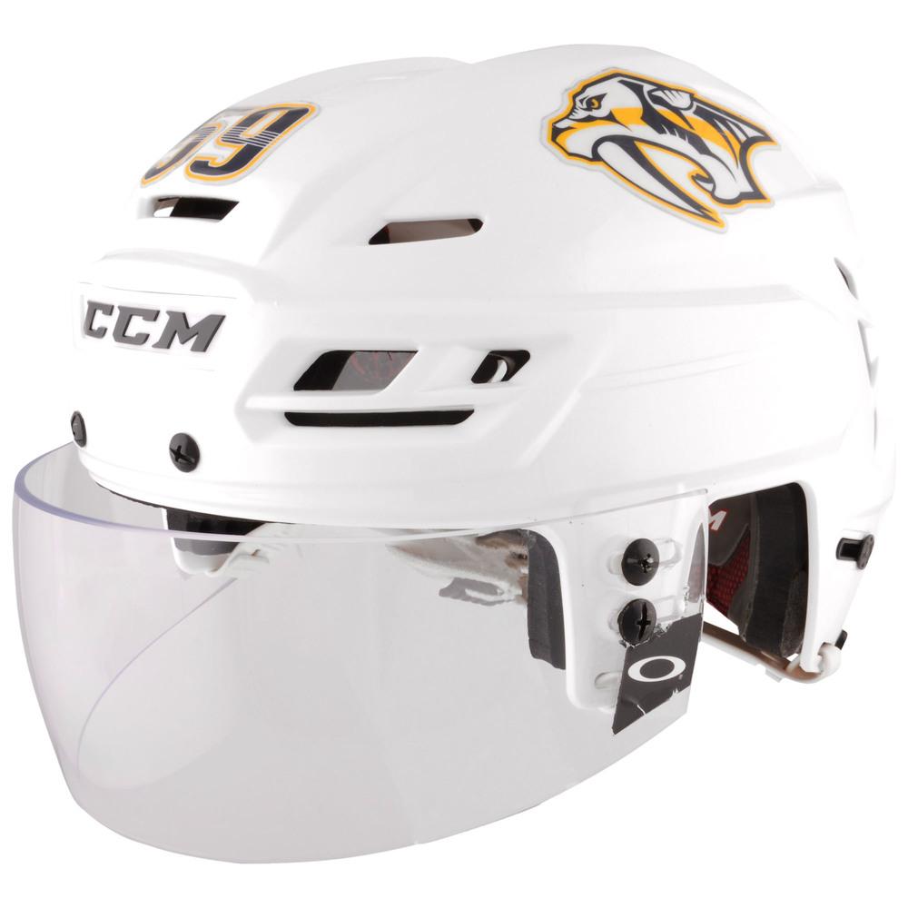 Roman Josi Nashville Predators - 2017 Stanley Cup Final Game-Worn White Helmet