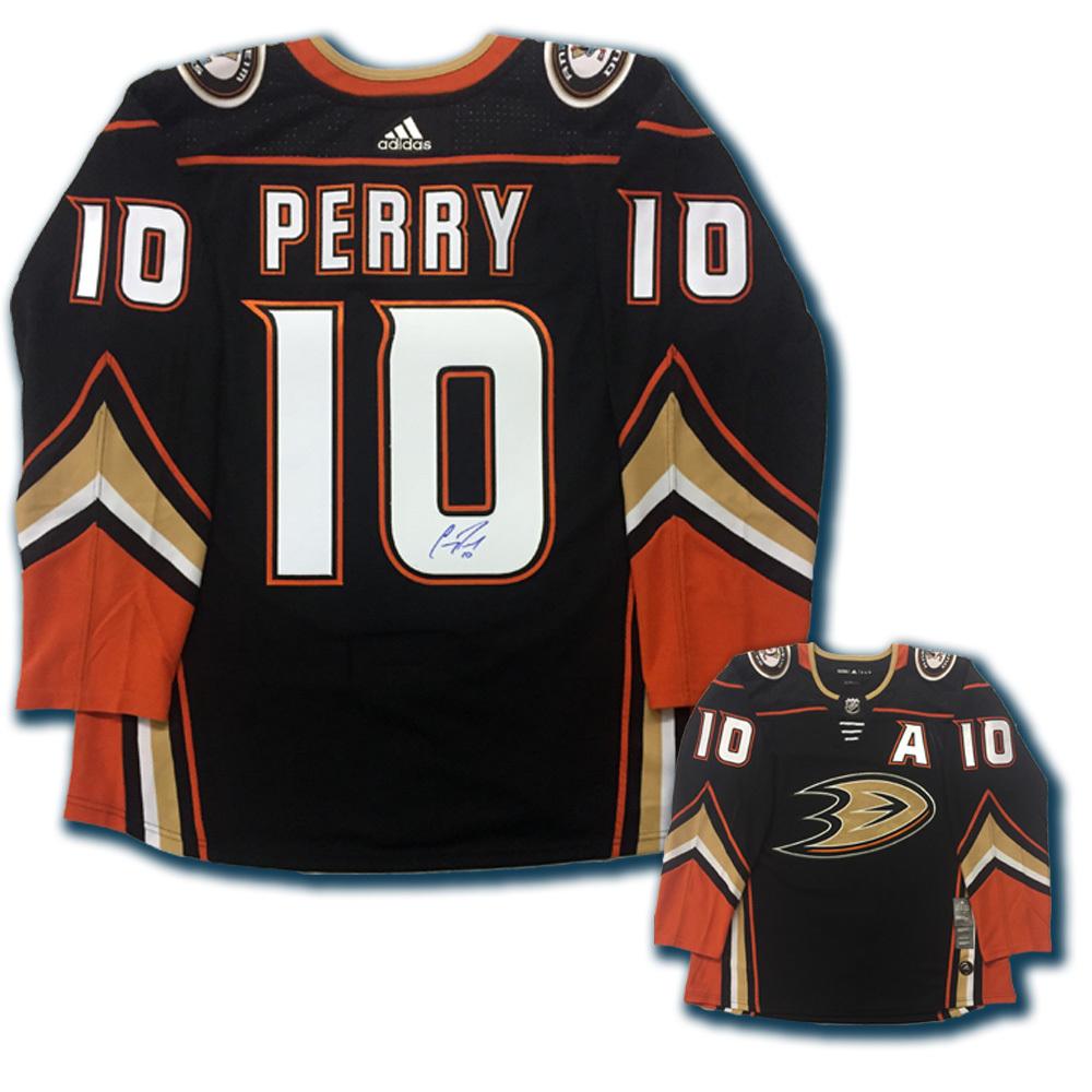 COREY PERRY Signed Anaheim Ducks Black Adidas Jersey