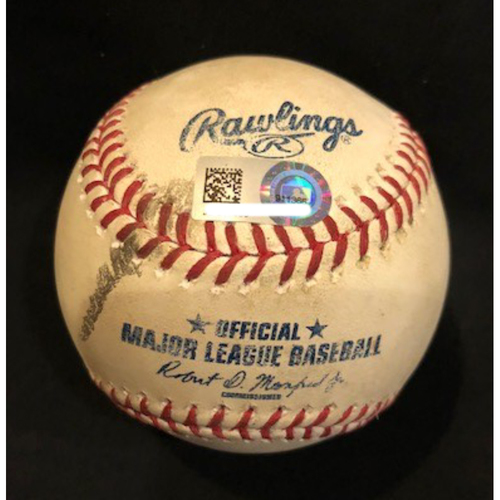 Photo of Adam Duvall - Game-Used Baseball - Seventh Career Triple, First of 2017 Season