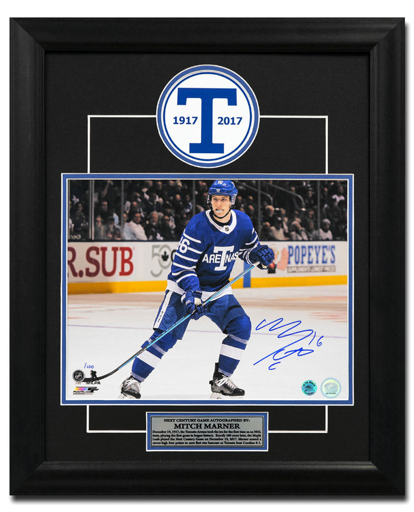 Mitch Marner Toronto Arenas Autographed Next Century Game 23x19 Frame #/100