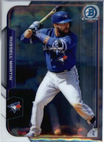 Photo of 2015 Bowman Chrome #48 Russell Martin