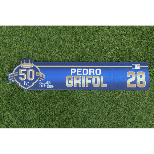 Photo of Game-Used Locker Nameplate: Pedro Grifol