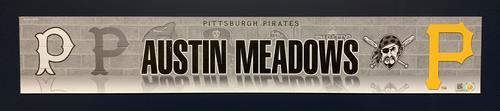 Photo of Austin Meadows 2018 Game-Used Locker Name Plate