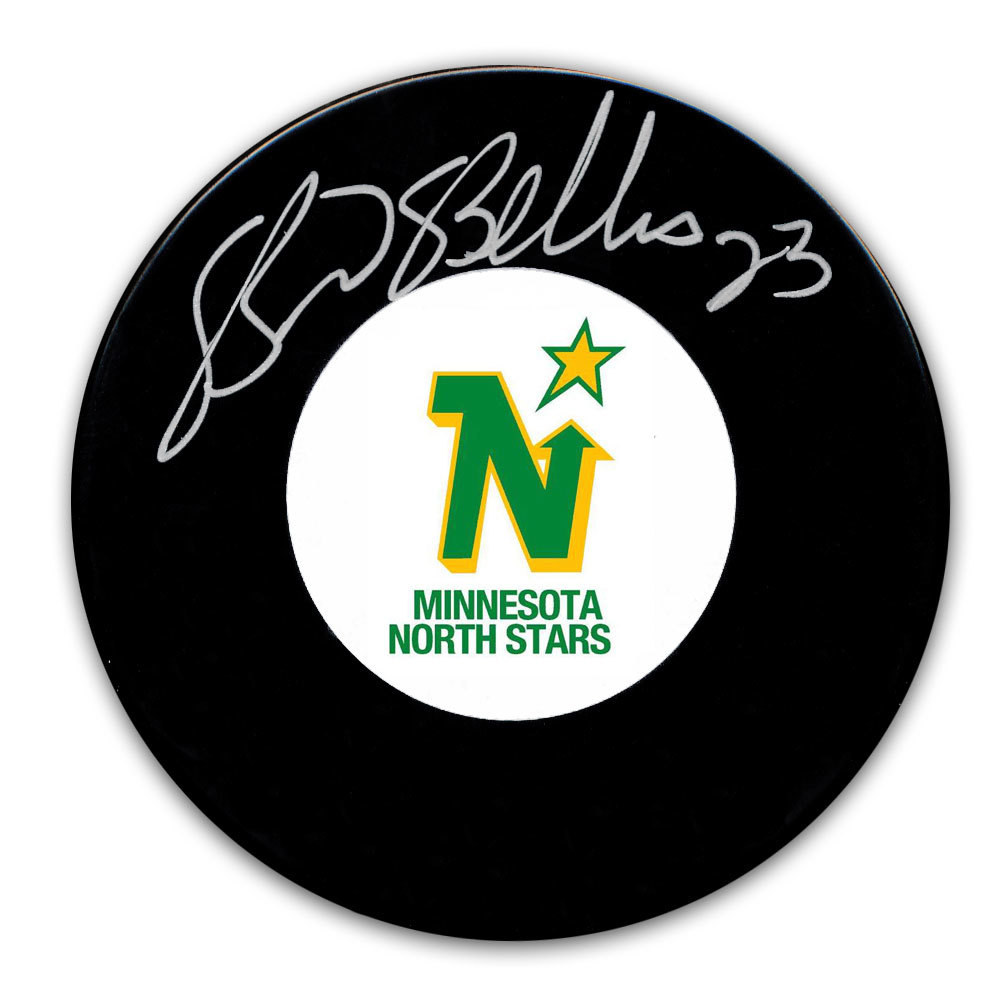 Brian Bellows Minnesota North Stars Autographed Puck