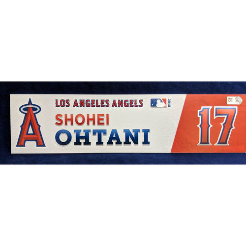Photo of Shohei Ohtani Game-Used Rookie Locker Tag