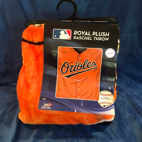 "Photo of UMPS CARE AUCTION: Baltimore Orioles 50"" x 60"" Jersey Throw Blanket"
