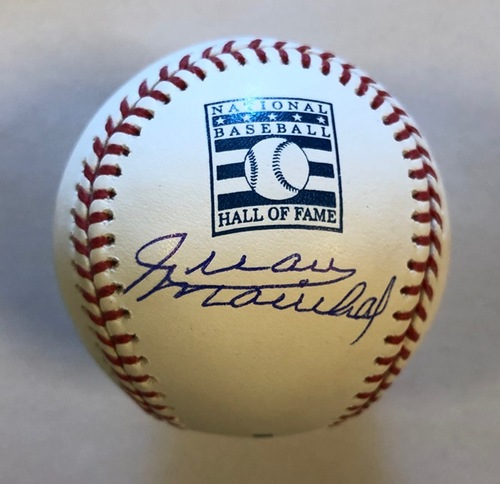 Photo of Juan Marichal Autographed HOF Logo Baseball