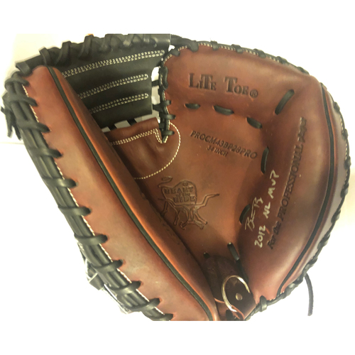 "Photo of Buster Posey Autographed ""12 NL MVP"" Catchers Mitt"