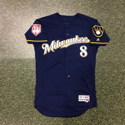 Photo of Ryan Braun 2019 Game-Used Spring Training Jersey