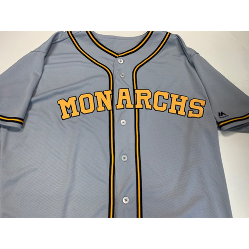 Photo of Team-Issued Kansas City Monarchs Jersey 8-11-2019: Danny Duffy