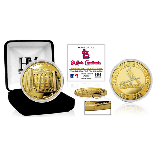 "Photo of St. Louis Cardinals ""Stadium"" Gold Mint Coin"