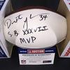 NFL - Buccaneers Dexter Jackson Signed Panel Ball w/ SB XXXVII MVP Inscription