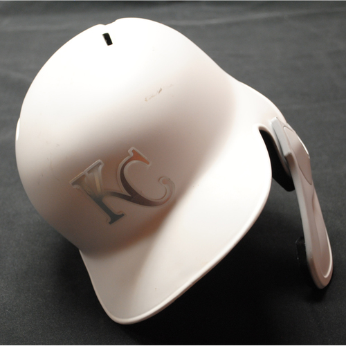 "Photo of Nick ""Who Dini"" Dini Kansas City Royals Game-Used 2019 Players' Weekend Helmet"