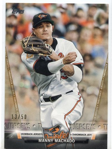 Photo of 2018 Topps Salute Series 2 Gold #S15 Manny Machado 13/50