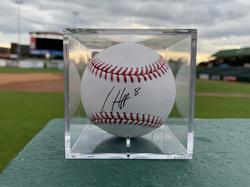 Photo of Chicago Cubs Autographed Ian Happ Baseball