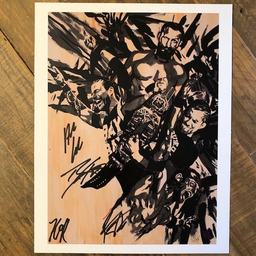 Photo of Undisputed Era SIGNED Rob Schamberger 11 x 14 Art Print (The Undisputed Era)