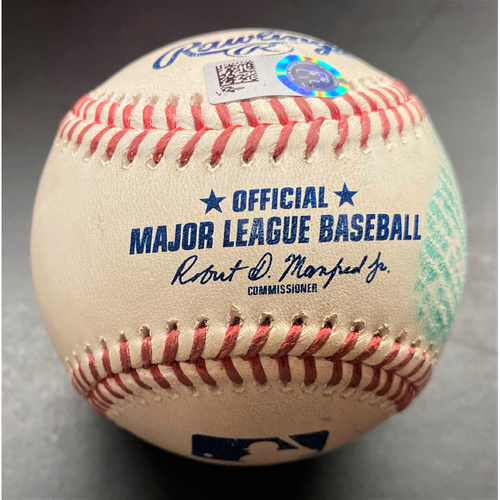 Photo of Game-Used Baseball: Extremely Rare New York Yankees Gio Urshela 3-Ball Walk (pitched by Kyle Funkhouser) (MLB AUTHENTICATED)