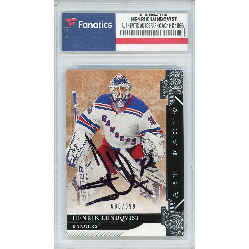 Henrik Lundqvist New York Rangers Autographed 2019-20 Upper Deck Artifacts #130 Card - LE of 699