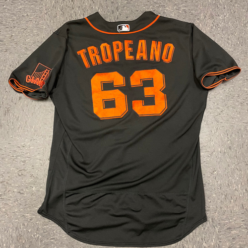 Photo of 2021 Team Issused Black Home Alt Jersey - #63 Nick Tropeano - Size 48