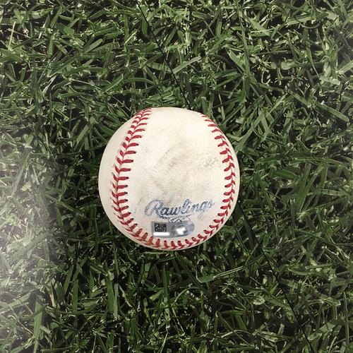 Photo of Game-Used Baseball PIT@MIL 08/04/21 - Kyle Keller - Manny Pina: Single