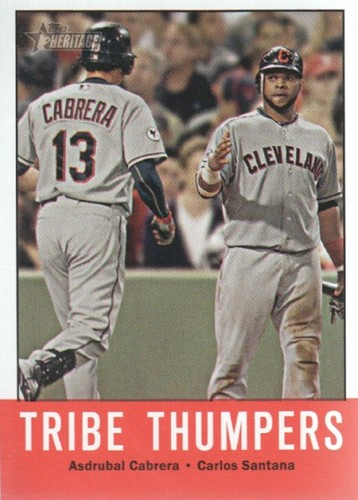 Photo of 2012 Topps Heritage #392 Asdrubal Cabrera/Carlos Santana