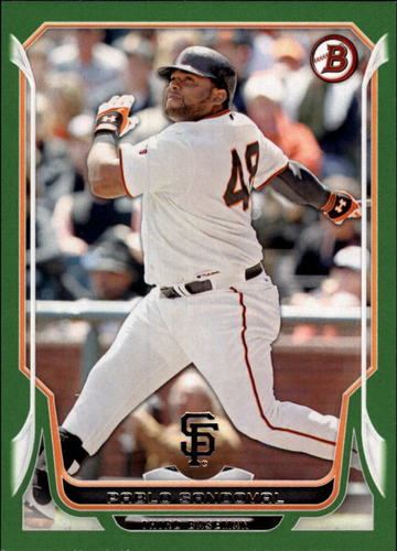 Photo of 2014 Bowman Green #148 Pablo Sandoval