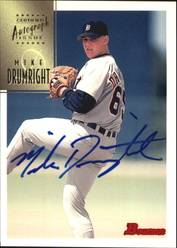 Photo of 1997 Bowman Certified Blue Ink Autographs #CA21 Mike Drumright