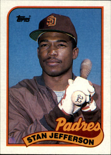 Photo of 1989 Topps #689B Stan Jefferson/Violet triangle on/front bottom left
