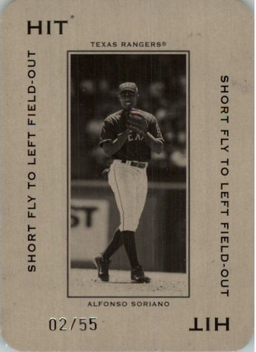 Photo of 2005 Throwback Threads Polo Grounds 55 HIT Short Fly #66 Alfonso Soriano