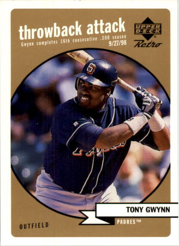 Photo of 1999 Upper Deck Retro Throwback Attack Level 2 #T15 Tony Gwynn