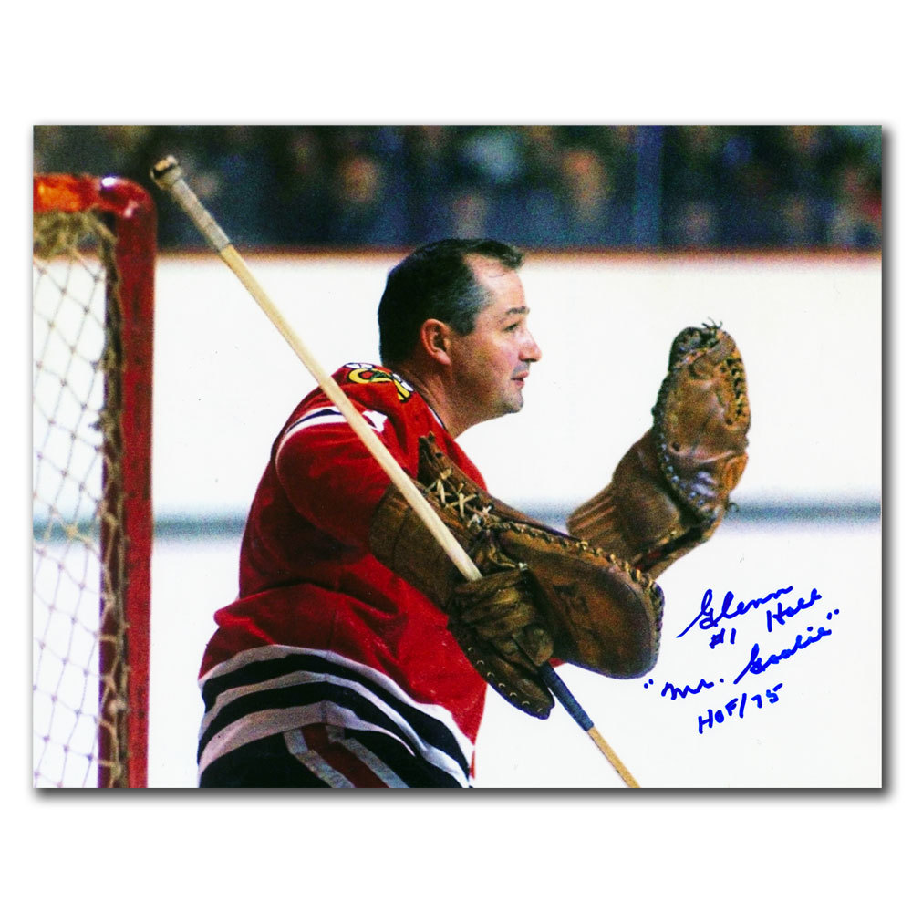 Glenn Hall Chicago Blackhawks Mr. Goalie HOF Autographed 8x10