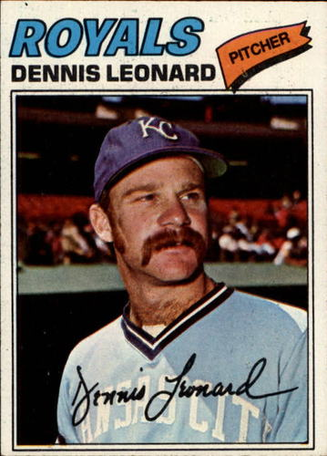 Photo of 1977 Topps #75 Dennis Leonard